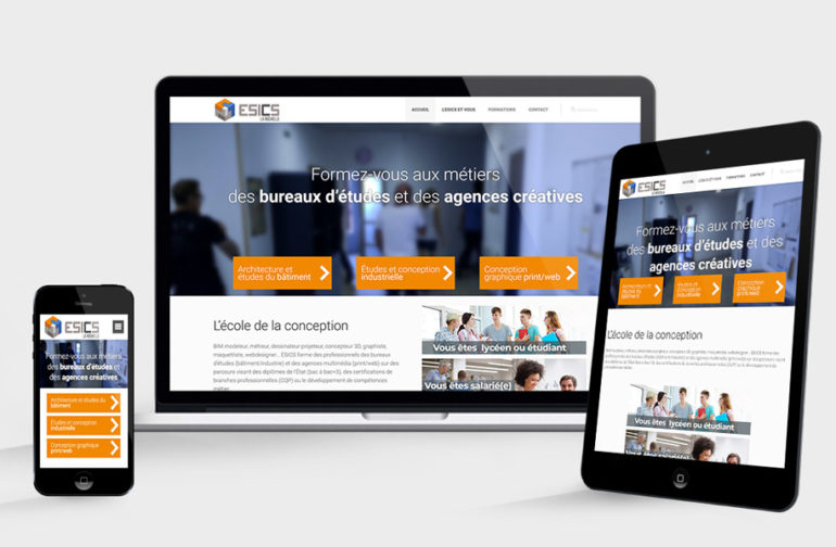 Site WEB ESICS La Rochelle