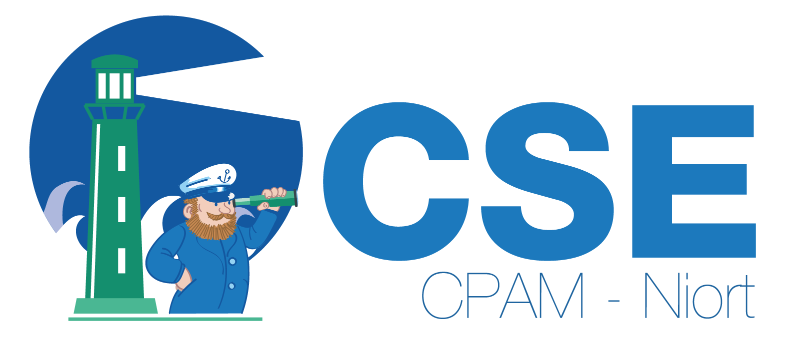 Logo dessiné et vectorisé CPAM