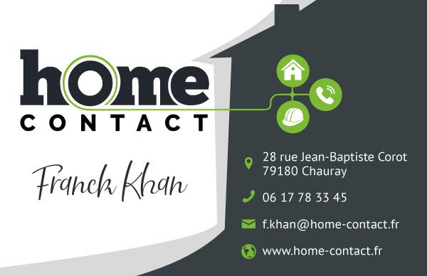 Carte de visite Home Contact